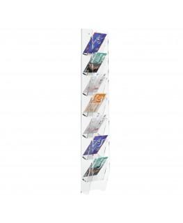 E-286 EPS-C - Espositore schede telefoniche da parete in plexiglass trasparente con 7 tasche