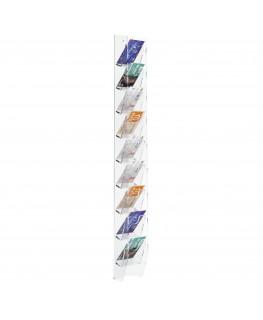 E-286 EPS-D - Espositore schede telefoniche da parete in plexiglass trasparente con 9 tasche