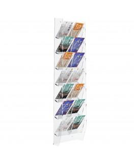 E-286 EPS-G - Espositore schede telefoniche da parete in plexiglass trasparente con 14 tasche