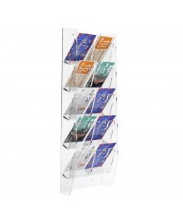 E-286 EPS-F - Espositore schede telefoniche da parete in plexiglass trasparente con 10 tasche