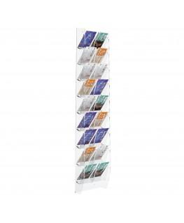 E-286 EPS-H - Espositore schede telefoniche da parete in plexiglass trasparente con 18 tasche