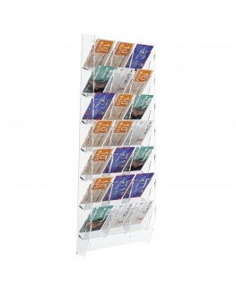 E-286 EPS-M - Espositore schede telefoniche da parete in plexiglass trasparente con 21 tasche