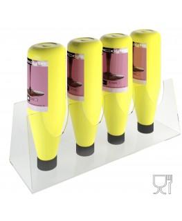 E-308 EPT-B - Espositore porta topping in plexiglass trasparente con 4 Postazioni