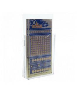 E-276 - Espositore schedine da parete in plexiglass trasparente