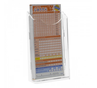 Acrylic countertop bet slip card holder display