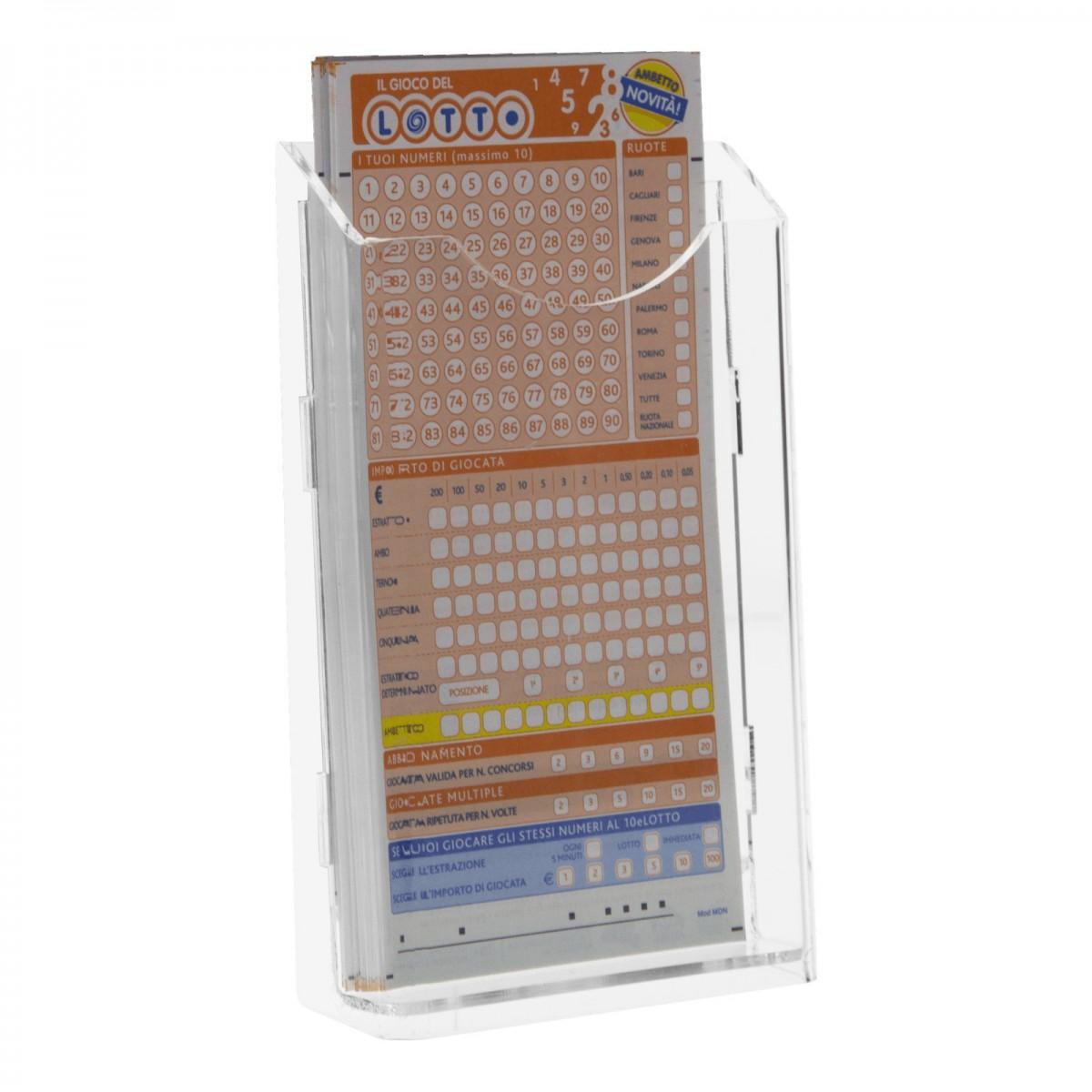E-278 - Espositore schedine da banco in plexiglass trasparente