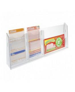 E-279 - Espositore schedine da banco in plexiglass trasparente