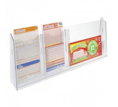 Espositore schedine da banco in plexiglass trasparente