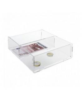 Porta cintura regolabile in plexiglass trasparente a 4...