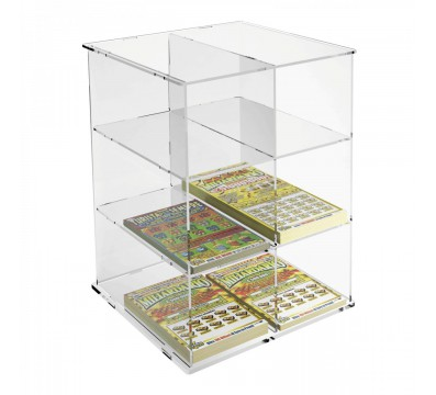 Acrylic countertop bet slip and scratch card holder display, etc.