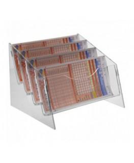 E-294 - Espositore schedine da banco in plexiglass trasparente