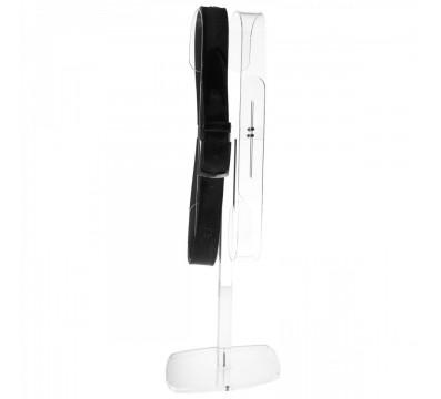 Porta cintura regolabile in plexiglass trasparente
