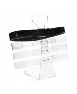 E-298 - Porta cintura regolabile in plexiglass trasparente